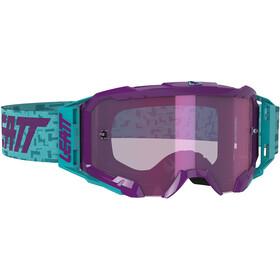 Leatt Velocity 5.5 Iriz Anti Fog Mirror Goggles aqua/purple